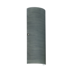 Sconce Wall Light Grey Glass Satin Nickel by Besa Lighting