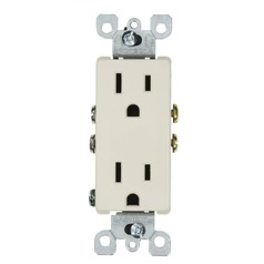 Leviton Light Almond Recessed Outlet