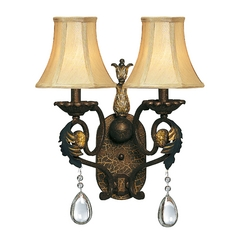 Hinkley Lighting Two-Light Sconce with Crystal Pentalogues 4802SU