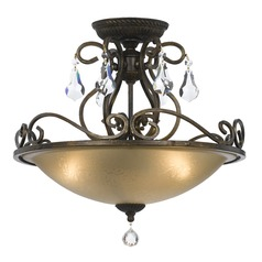 Crystorama Lighting Ashton English Bronze Semi-Flushmount Light