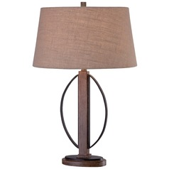 Minka Lavery Ambience Aspen Bronze Table Lamp with Empire Shade