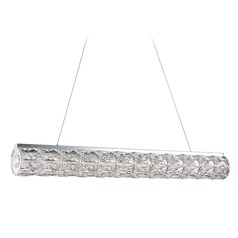 Crystal Chrome LED Pendant with Clear Shade 4000K 1440LM