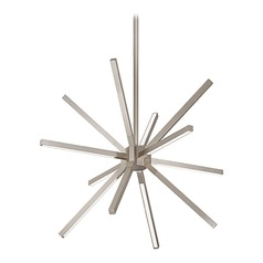 Mid-Century Modern Brushed Nickel LED Pendant 3000K 4300LM