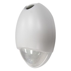 Exitronix White Outdoor Emergency Wall Light