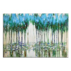 Uttermost Trees In The Mist Abstract Art