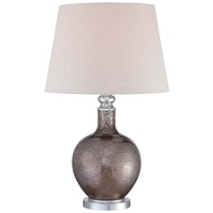 Minka Ambience Polished Nickel Table Lamp with Empire Shade