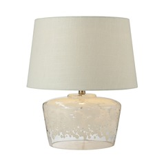 Dimond Lighting White, Clear Table Lamp with Empire Shade