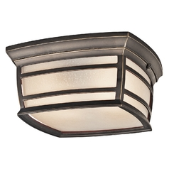 Kichler Outdoor Ceiling Light in Rubbed Bronze Finish