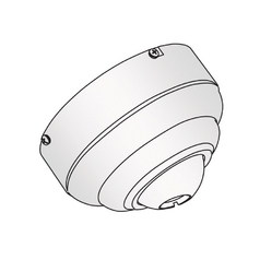 Ceiling Adaptor in White Finish