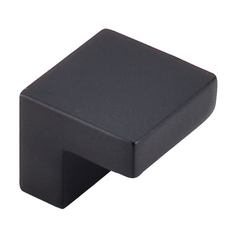 Modern Cabinet Knob in Flat Black Finish
