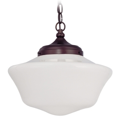 14-Inch Vintage Style Schoolhouse Pendant Light with Chain