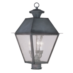 Livex Lighting Livex Lighting Mansfield Charcoal Post Light 2169-61