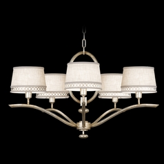 Fine Art Lamps Allegretto Silver Platinized Silver Leaf with Subtle Brown Highlights Chandelier
