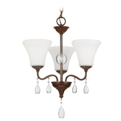 Sea Gull Lighting West Town Burnt Sienna Mini-Chandelier
