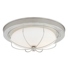 Marina Bay Polished Nickel Flushmount Light by Vaxcel Lighting
