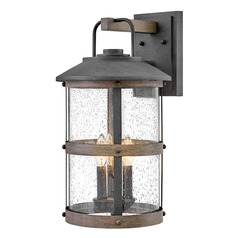 Hinkley Lighting Lakehouse Aged Zinc / Driftwood Grey Outdoor Wall Light