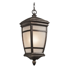 Kichler Outdoor Hanging Light in Rubbed Bronze Finish
