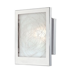 ADA Wall Sconce in Chrome Finish with Rectangle Shade