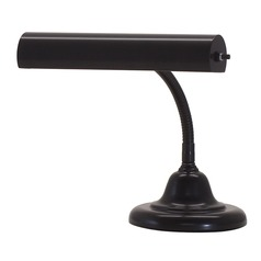House Of Troy Advent Piano Black Piano / Banker Lamp