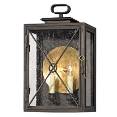 Troy Lighting Randolph Vintage Bronze with Brass Outdoor Wall Light