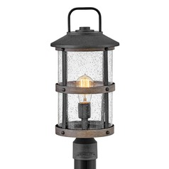 Hinkley Lighting Lakehouse Aged Zinc / Driftwood Grey Post Light