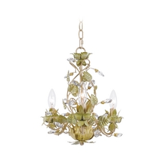 Mini-Chandelier in Champange Green Tea Finish
