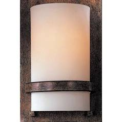Sconce with Etched Opal Glass