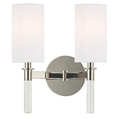 Wylie 2 Light Sconce - Polished Nickel