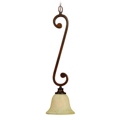 Craftmade Toscana Peruvian Bronze Mini-Pendant Light with Bell Shade
