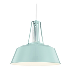 Feiss Lighting Freemont Hi Gloss Blue Pendant Light