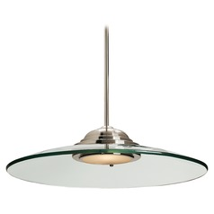 Access Lighting Phoebe Brushed Steel LED Pendant Light with Bowl / Dome Shade