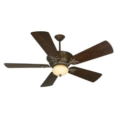 Craftmade Lighting Pavilion Aged Bronze Textured Ceiling Fan with Light