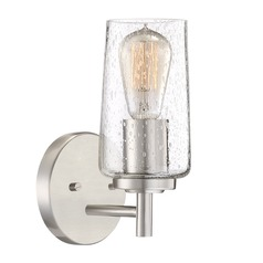 Industrial Edison Bulb Sconce Brushed Nickel 5-Inch by Quoizel Lighting