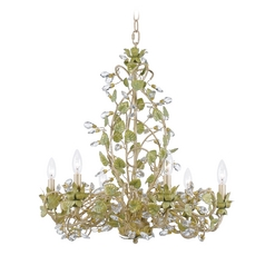 Crystal Chandelier in Champange Green Tea Finish