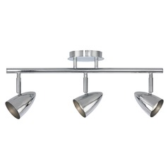 Semi-Flush Adjustable 3-Light Directional Spot Light - Chrome