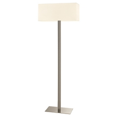 Sonneman Lighting Madison Satin Nickel Floor Lamp with Rectangle Shade