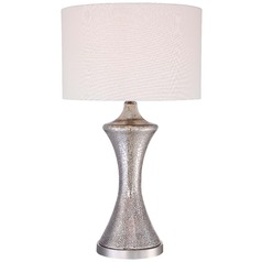 Transitional polished nickel table lamps destination lighting minka ambience polished nickel table lamp with drum shade aloadofball Images