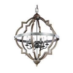 Sea Gull Socorro Stardust / Cerused Oak Pendant Light