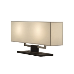 Modern Table Lamp with Beige / Cream Shades in Black Nickel Finish