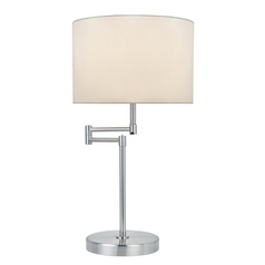 Lite Source Lighting Durango Polished Steel Swing Arm Lamp