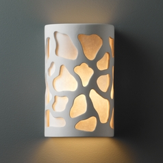 Sconce Wall Light with White in Bisque Finish