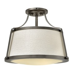 Hinkley Lighting Charlotte Antique Nickel Semi-Flushmount Light