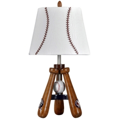 Stylecraft Transitional Baseball Bat & Ball Table Lamp
