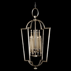 Fine Art Lamps Allegretto Silver Platinized Silver Leaf with Subtle Brown Highlights Pendant Light