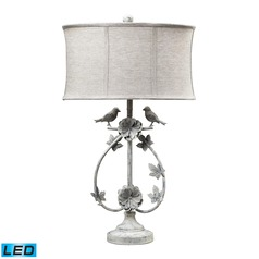 Dimond Lighting Antique White LED Table Lamp with Oval Shade