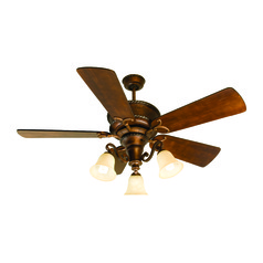 Craftmade Lighting Riata Burnt Sienna Ceiling Fan with Light