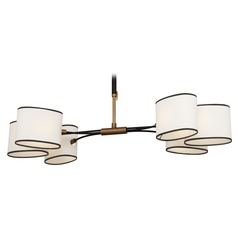 Robert Abbey Axis Aged Brass W/ Cocoa Brown Accents Chandelier
