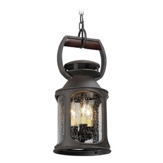 Troy Lighting Old Trail Centennial Rust Outdoor Hanging Light