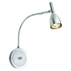 Eglo Halva 1 Brushed Aluminum & Chrome Sconce