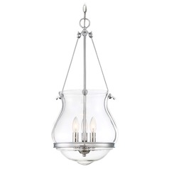 Minka Lavery Atrio Chrome Pendant Light with Urn Shade